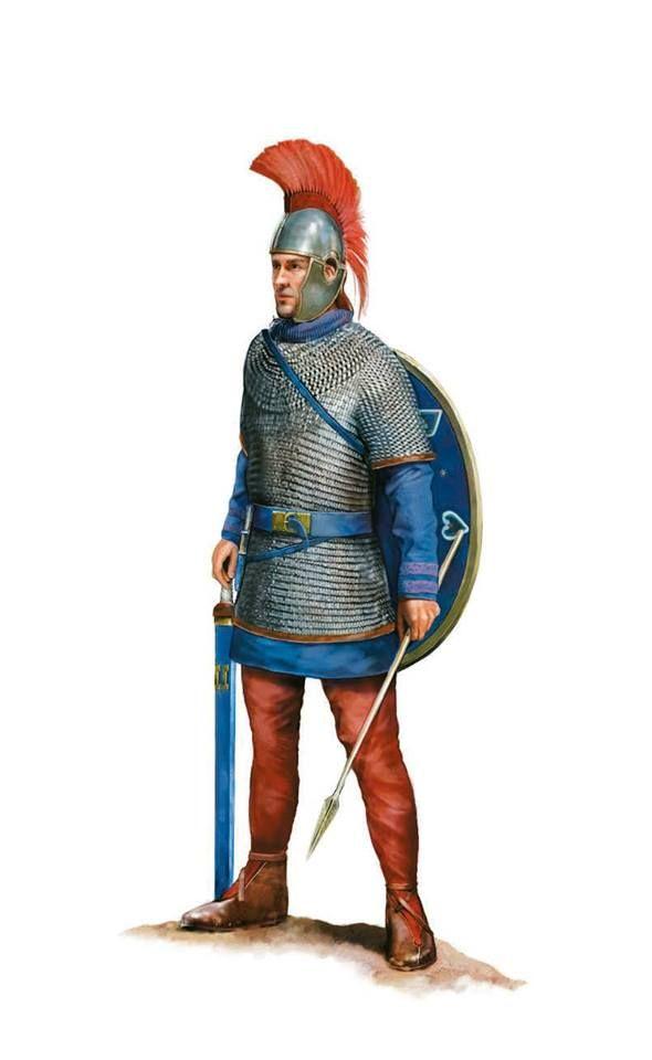 Roman classiarius of the Rhine Fleet, naval operations on the Rhine, 357 AD. Artwork by Tom Croft.