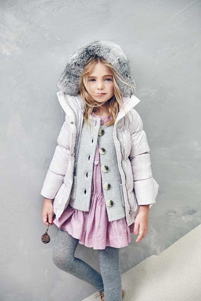 Olympia down coat in Lavender Fog by Nellystella - Available at The Girls @ Los Altos