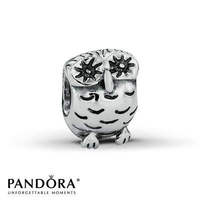 Pandora Charm Owl Sterling Silver