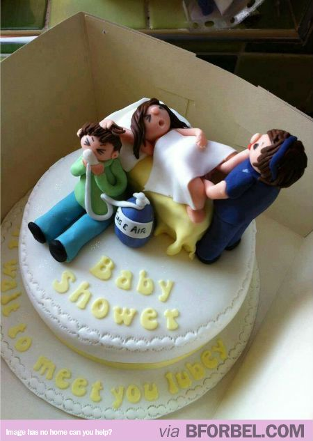 Awesome And Awkward Baby Shower Cake Funny Pinterest
