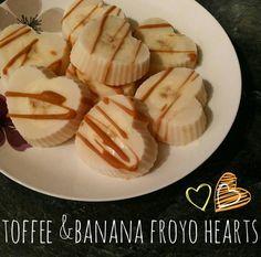 Caramel and banana froyo bites