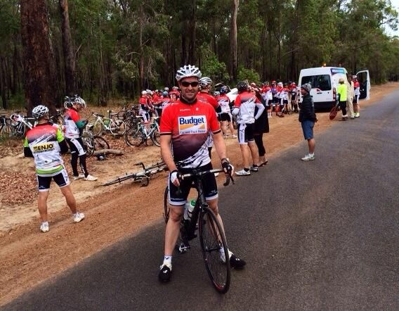 On the road between Frankland River and Manjimup #hawaiianrideforyouth @Youth Focus pic.twitter.com/sDtsXLQmwl - thanks John Gardner for the great pic!