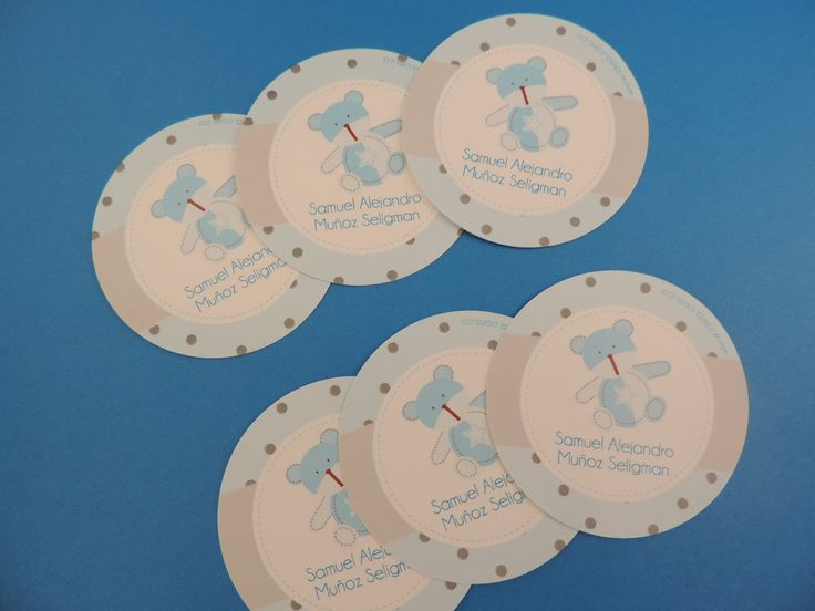 Stickers para baby shower Osito