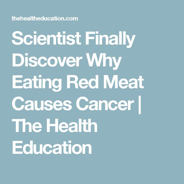 Scientist Finally Discover Why Eating Red Meat Causes Cancer | The Health Education