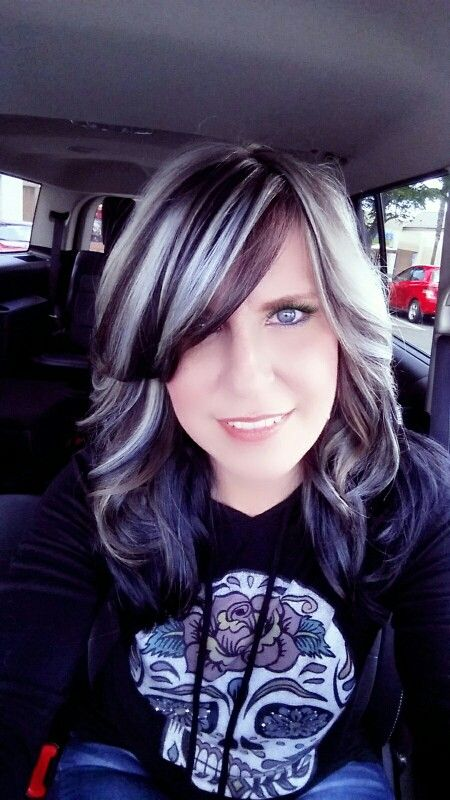 I'm thinking this might be a way for me to transition to gray hair.  Highlights and lowlights