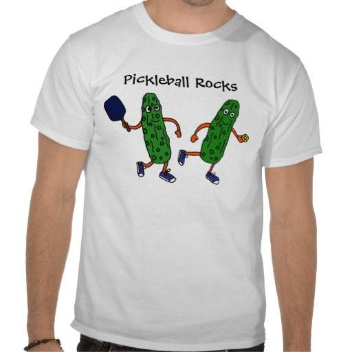 Pickleball Cartoon Shirt #pickleball #funny #shirt #sports #pickles #art #humor #zazzle #petspower
