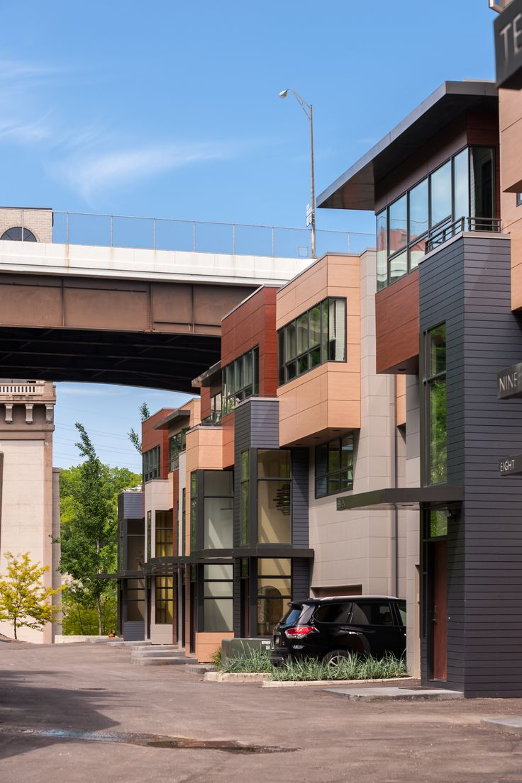 townhome . sustainable development . modern architecture . brickhaus