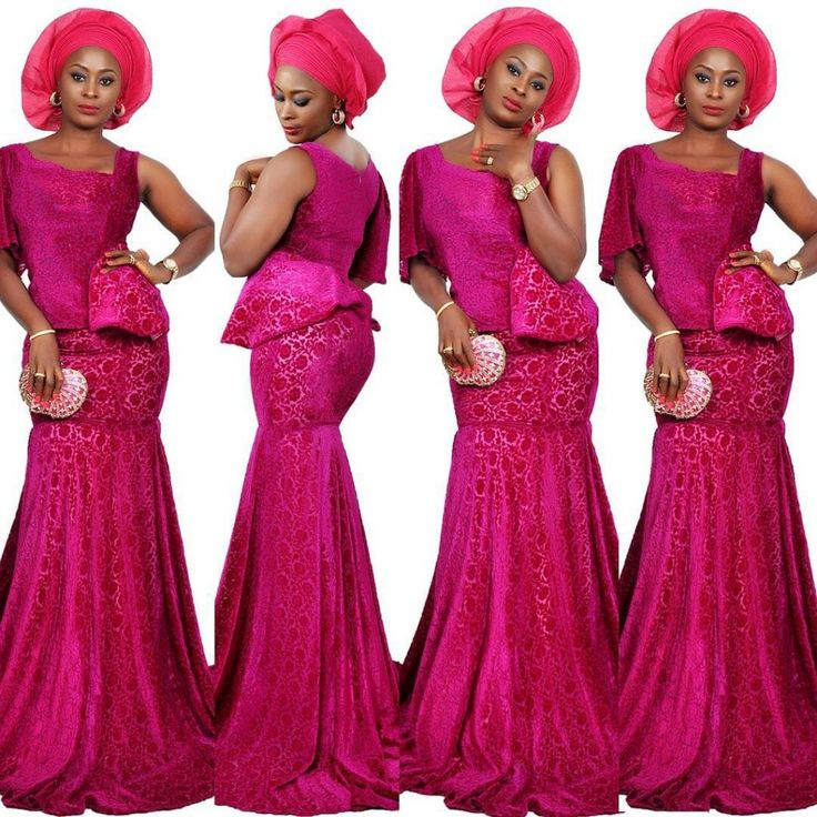 Image result for nigerian lace skirt and blouse styles