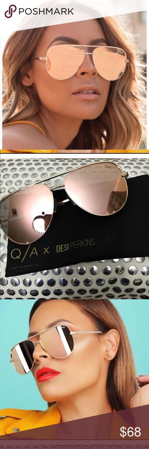 Brand new quay high key sunglasses gold High key quay desi perkins Accessories