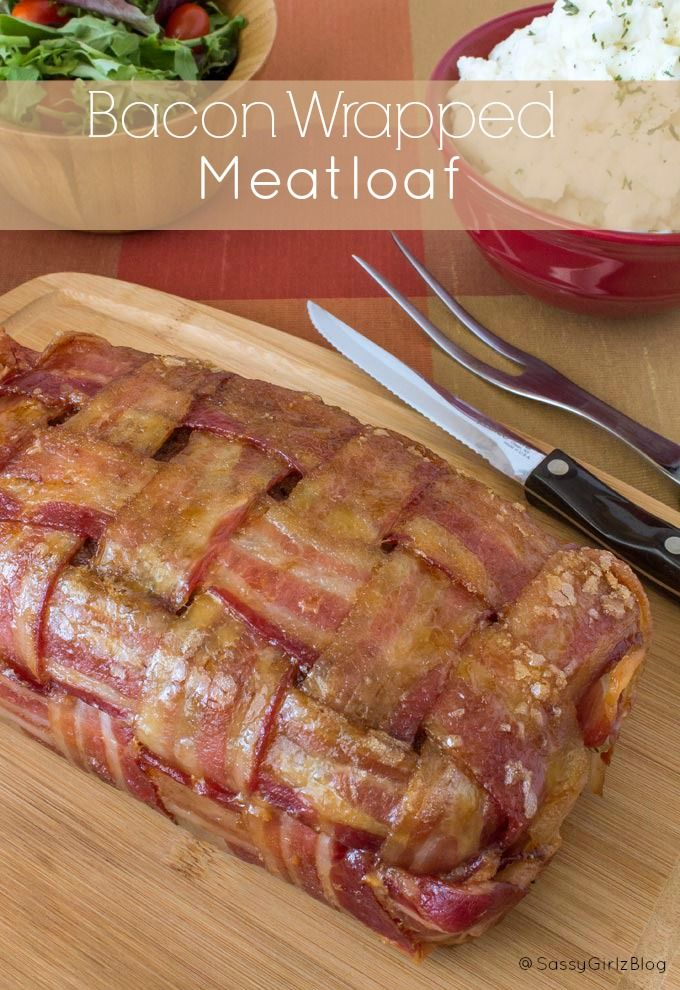 Bacon Wrapped Meatloaf Recipe - Brown Sugar Glazed bacon Wrapped Around a Super Moist Meatloaf make This THE Ultimate meat Lovers Meal!