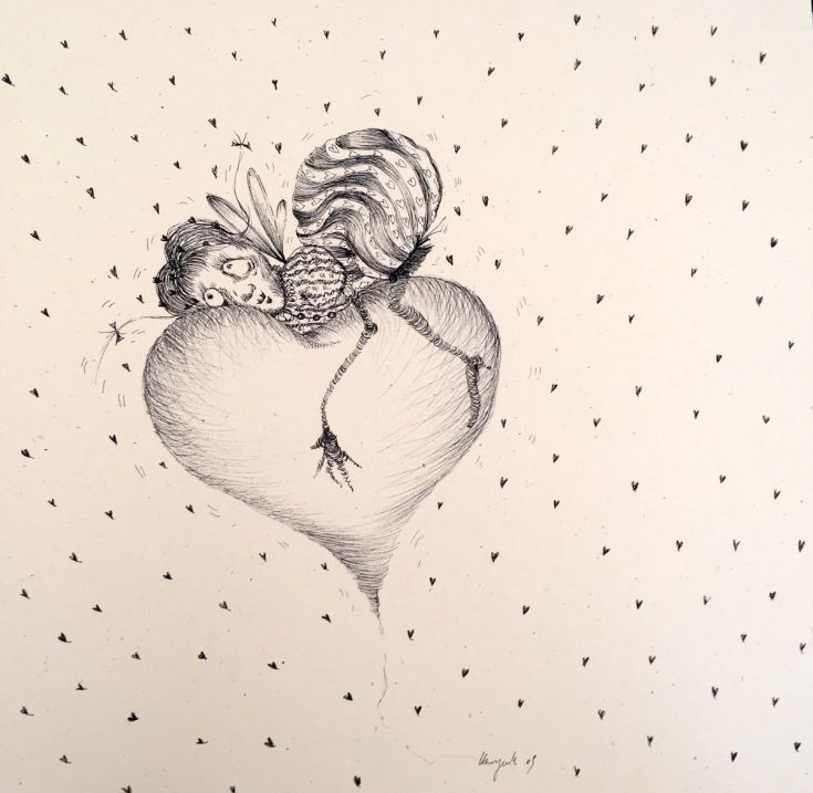 Buy Listen to your heart., Ink drawing by Stefania Morgante on Artfinder. Discover thousands of other original paintings, prints, sculptures and photography from independent artists.