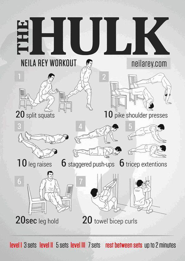 Musculation avec Neila Rey - Exercices de Hulk