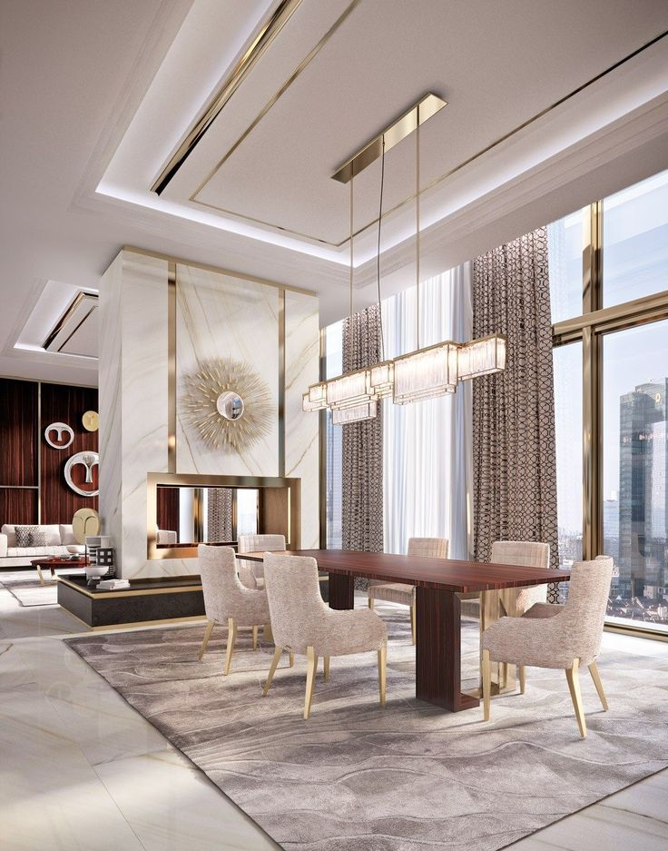 discover exclusive lighting ideas for a luxurious dining room ambiance - Modern Luxury Dining Room