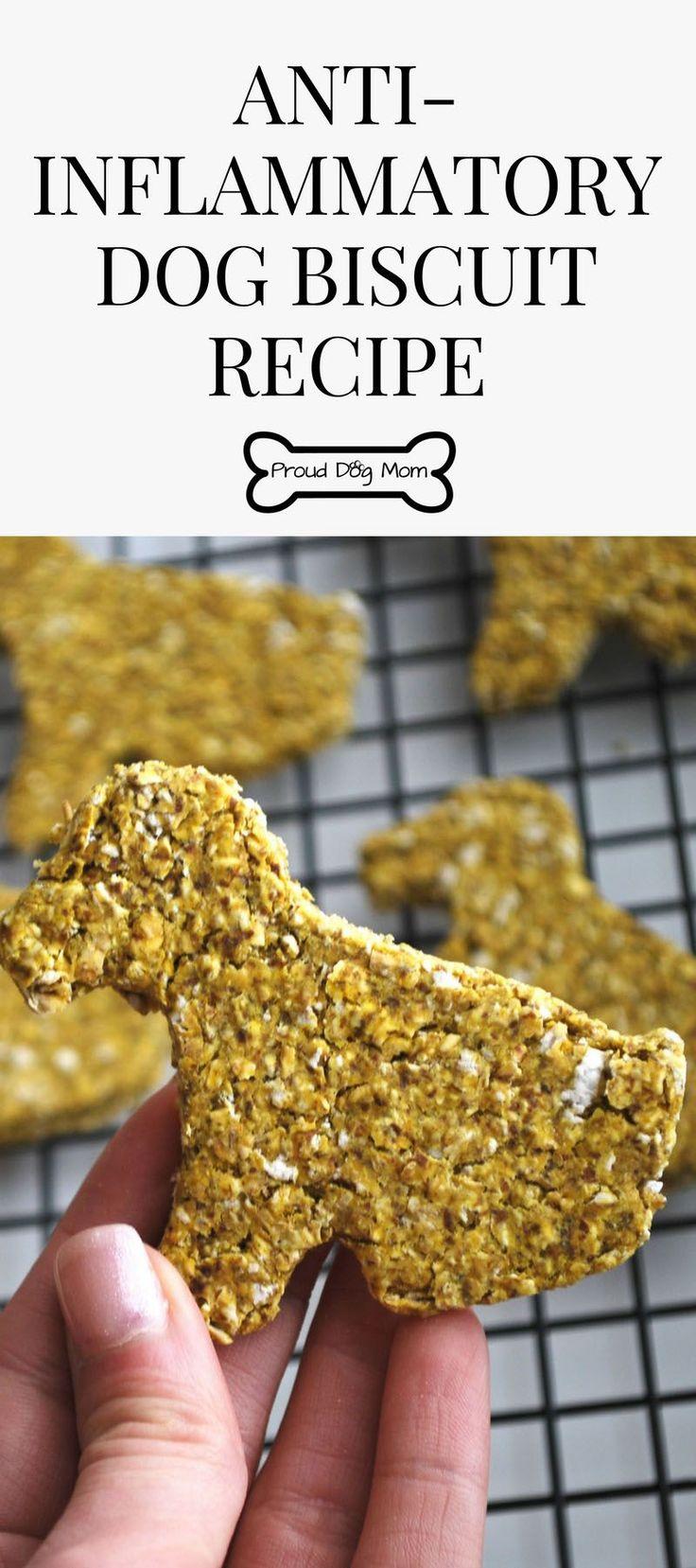 Anti-Inflammatory Dog Biscuit Recipe | Homemade Dog Treats | DIY Dog Treats | Gluten-Free Dog Treat Recipe |