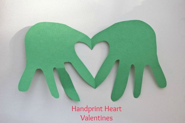Handprint heart valentines (cute and easy idea for the little guys)