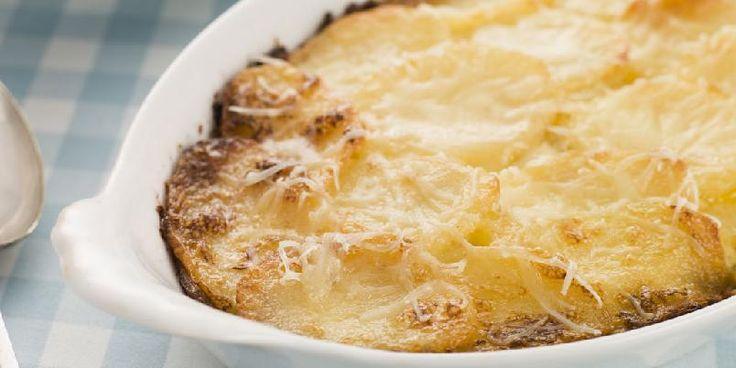Fløtegratinerte poteter - Effektivt, men like godt!