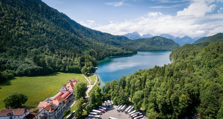 Alpsee lake in the Bavarian Alps