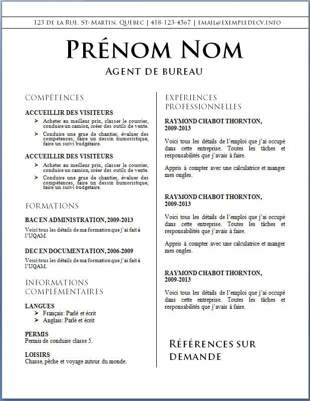 Cv Word Restauration Comment Faire Un Cv Exemple De Cv Original Cv Infirmier
