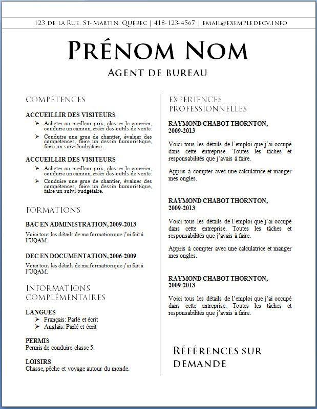 Cv Word Restauration Comment Faire Un Cv Exemple De Cv Original Cv Infirmier