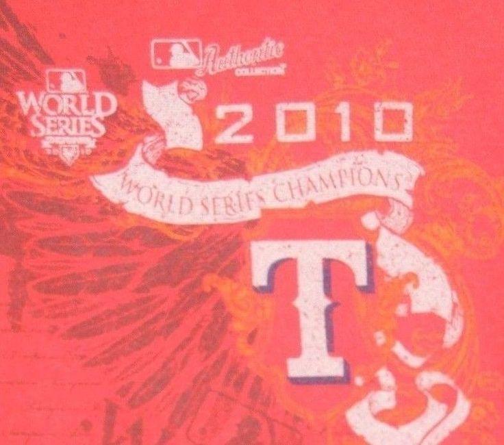 Texas Rangers 2010 World Series Champions XL pullover hoodie Majestic #Majestic #TexasRangers