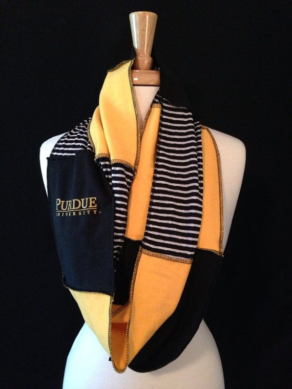 Purdue University Infinity Scarf by poshCreationsCincy on Etsy