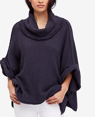 260cf9af8b Free People So Comfy Cotton Cowl-Neck Sweater - Sweaters - Juniors - Macy s  Cotton