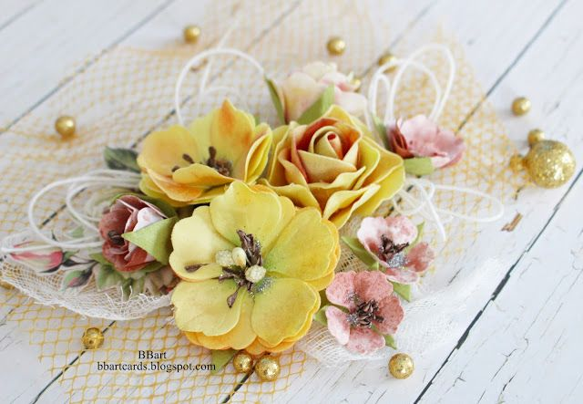 TWÓRCZY POKOIK by BBart: Kwiaty w kolorach jesieni-wyzwanie#1  DT  APScraft...