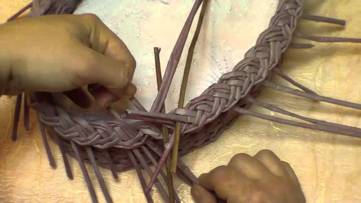 Basketry. Braid-type of edging. Part 10.