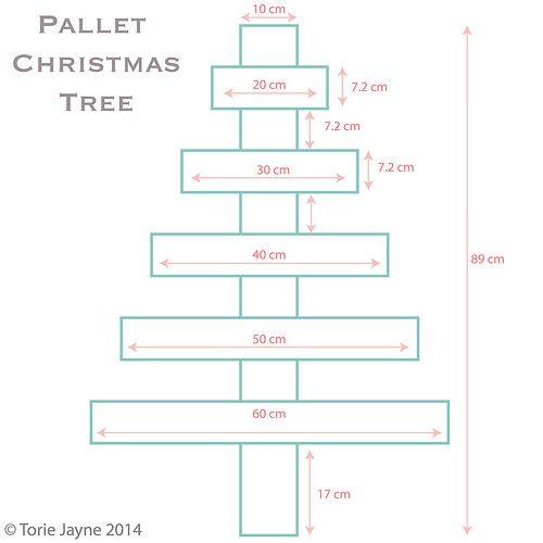 Pallet Christmas tree diagram