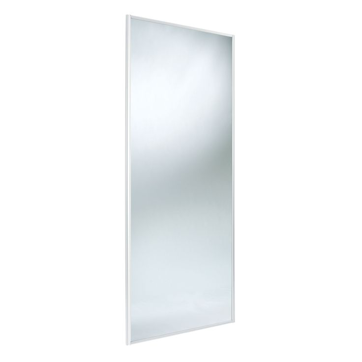 Traditional Full Length Mirror White Sliding Wardrobe Door (H)2220 mm (W)762 mm | Departments | DIY at B&Q