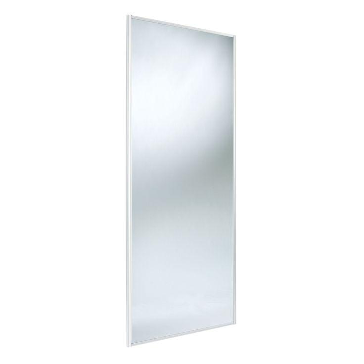 Traditional Full Length Mirror White Sliding Wardrobe Door (H)2220 mm (W)762 mm | Departments | DIY at B&Q