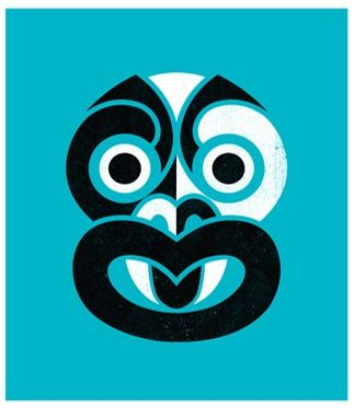 Phantom Tiki (Teal Blue) by Greg Straight for Sale - New Zealand Art Prints