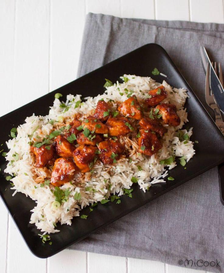 Citroenkip met kruidige rijst. Heerlijke kruidige rijst met citroenkip. Recept uit het boek Wat Katie eet.