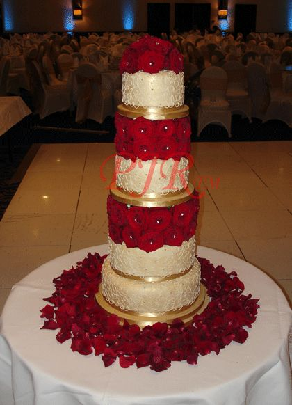red and gold wedding cake designs cake pink and gold wedding wedding cakes 4 tier 19077
