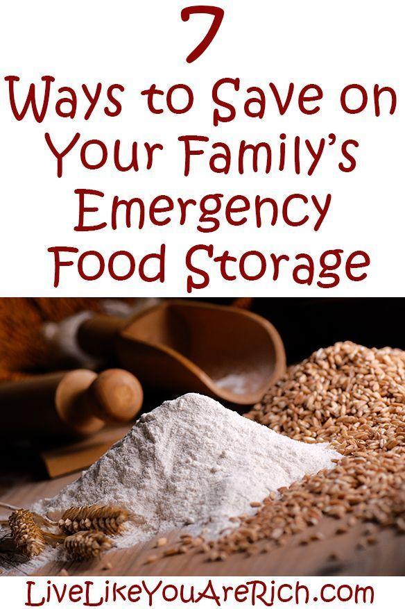 How to Save Money on Emergency Food Storage #LiveLikeYouAreRich