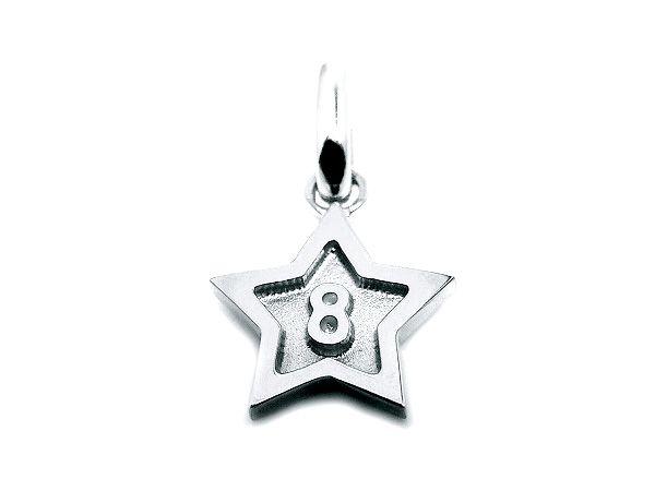 pt900 platinum number 8 pendant charms star frame ナンバー 8 数字 プラチナ スター all numbers on official online shop(0-9)