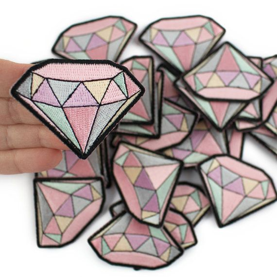 Diamond Gemstone Embroidered Patch / por WildflowerandCompany
