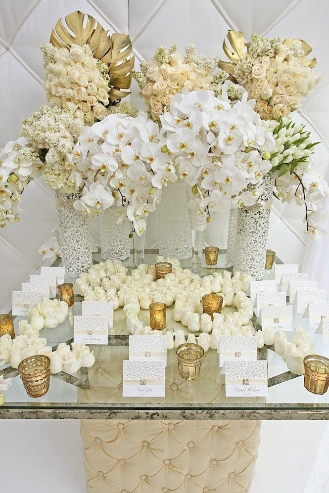 Gold and white wedding floral fabulous