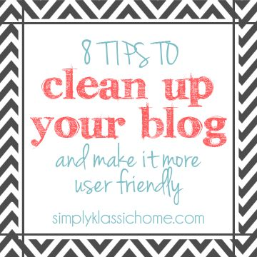 Some great tips to streamline the look and function of your blog.