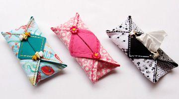 Porta+lenços+de+papel+bem+práticos+feito+com+tecido
