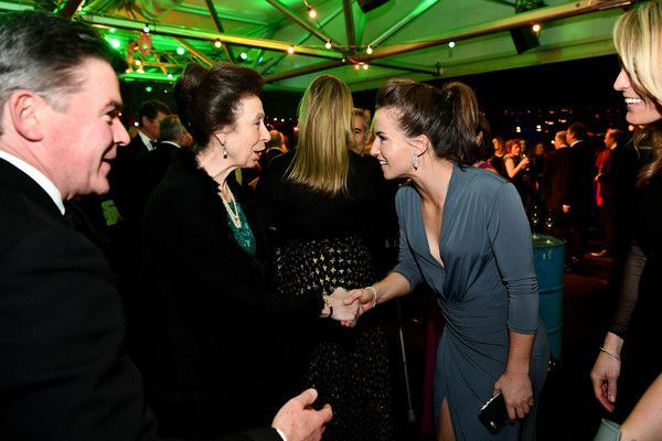 Princess Anne, Princess Royal (L) meets with Team GB hockey players as she attends the Team GB Ball at Battersea Evolution on November 30, 2016 in London, England. - Team GB Ball