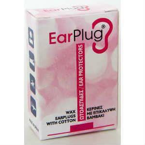 Vitorgan EarPlug Κέρινες Ωτοασπίδες Με Επικάλυψη Βαμβάκι 1ζεύγος
