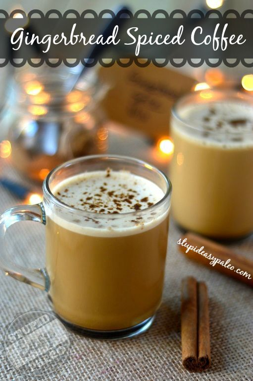 Gingerbread Spiced Bulletproof® Coffee | stupideasypaleo.com Click here for the recipe --> http://stupideasypaleo.com/2013/11/30/gingerbread-spiced-bulletproof-coffee/ #coffee #bulletproof #gingerbread #holiday