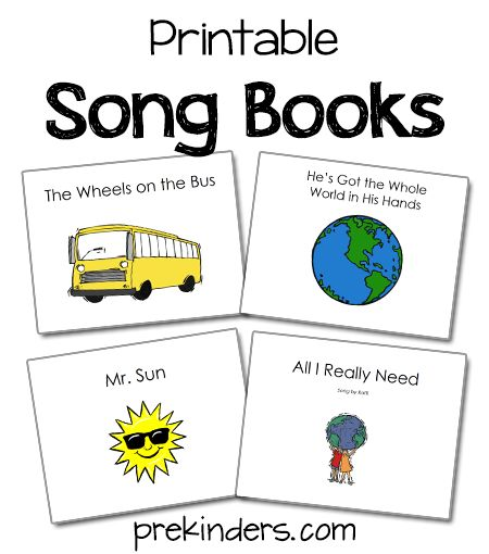 These printable song books can be used in the classroom while singing songs. How to use these books: Print the PDF, …