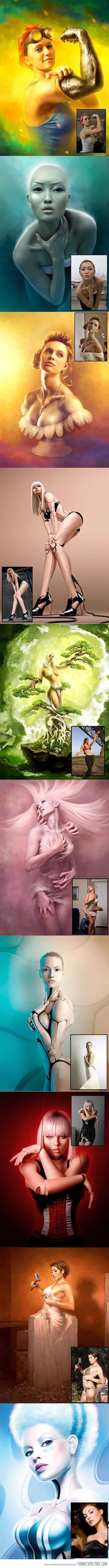 Highly edited images and their origins…   Photography+Passion