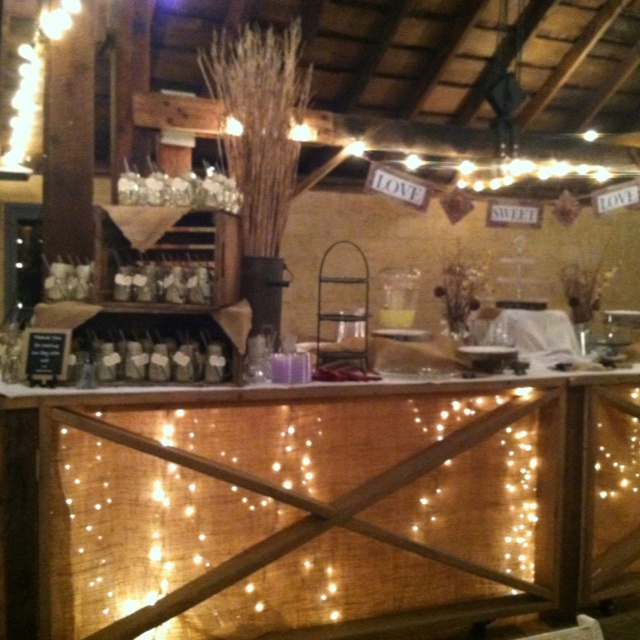 Rustic Wedding Dessert Bar Love The Burlap Over The