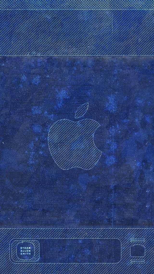 Blue Lock Screen Iphone 5 Wallpaper