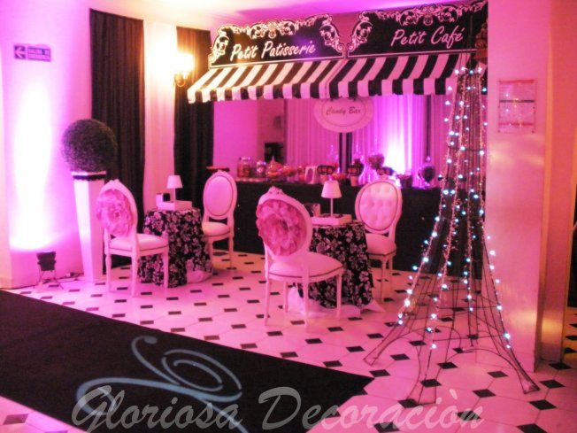 Loving this for a quince reception party quinceanera for Decoracion 15 anos paris