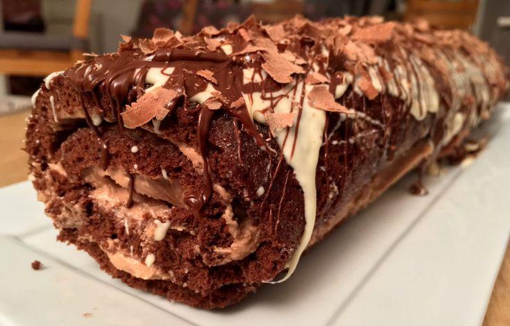 Rullekake med sjokoladekrem