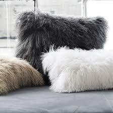 Mongolian shaggy cushion